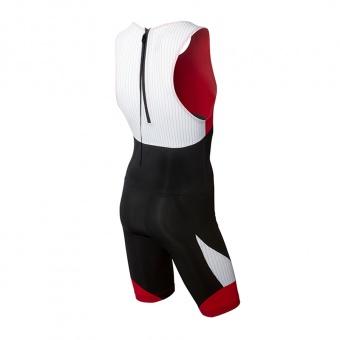 Carbon shortjohn sort-rød ryg