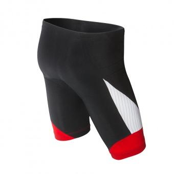 Carbon shorts sort-hvid-rød bag