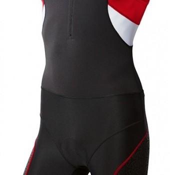 Competitor trisuit sort-rød