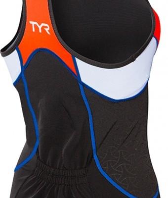 competitor tank sort-orange-hvid ryg